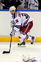 Ishockey<br /> NHL<br /> Foto: imago/Digitalsport<br /> NORWAY ONLY<br /> <br /> 9 October 2014: New York Rangers right wing Mats Zuccarello (36) controls the puck during the third period of a NHL Eishockey Herren USA hockey game against the St. Louis Blues at the Scottrade Center in St. Louis, Missouri. The Rangers defeated the Blues 3-2.