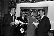 11/11/1964<br /> 11 November 1964<br /> <br /> Mr Sean O'Brien and Mr George Sisson both men directors for Irish Display Company speaking with Mr. and Mrs Cyril Duff Manager Dublin Regional Tourism Organisation