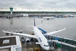 THEMENBILD, Airport Muenchen, Franz Josef Strauß (IATA: MUC, ICAO: EDDM), Der Flughafen Muenchen zählt zu den groessten Drehkreuzen Europas, rund 100 Fluggesellschaften verbinden ihn mit 230 Zielen in 70 Laendern, im Bild eine Maschine der Lufthansa, Typ Airbus A330-300 am Terminal dahinter Ansicht des Flughafen Gelaendes // THEME IMAGE, FEATURE - Airport Munich, Franz Josef Strauss (IATA: MUC, ICAO: EDDM), The airport Munich is one of the largest hubs in Europe, approximately 100 airlines connect it to 230 destinations in 70 countries. picture shows: a machine of the Lufthansa Airbus A330-300 at the airport terminal behind this view of the airport Munich, Munich, Germany on 2012/05/06. EXPA Pictures © 2012, PhotoCredit: EXPA/ Juergen Feichter
