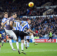 Bradley Johnson of Derby County heads for goal during the Sky Bet Championship match at Hillsborough, Sheffield<br /> Picture by Graham Crowther/Focus Images Ltd +44 7763 140036<br /> 06/12/2015
