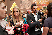 DAISY DE VILLENEUVE; IDRIS KHAN, Royal Academy of Arts Summer Exhibition Preview Party 2011. Royal Academy. Piccadilly. London. 2 June <br /> <br />  , -DO NOT ARCHIVE-© Copyright Photograph by Dafydd Jones. 248 Clapham Rd. London SW9 0PZ. Tel 0207 820 0771. www.dafjones.com.