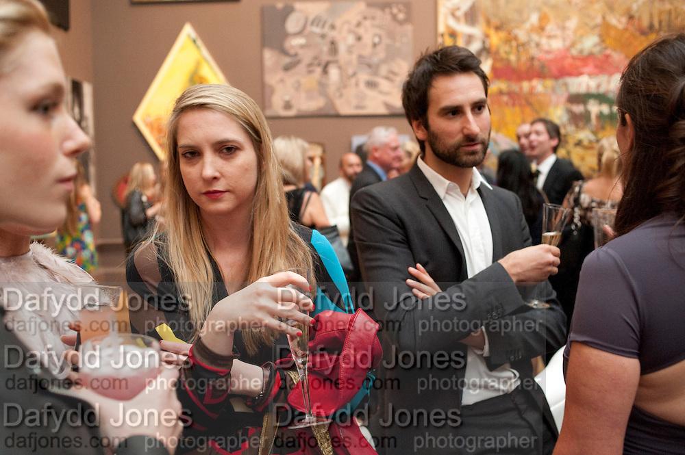 DAISY DE VILLENEUVE; IDRIS KHAN, Royal Academy of Arts Summer Exhibition Preview Party 2011. Royal Academy. Piccadilly. London. 2 June <br /> <br />  , -DO NOT ARCHIVE-© Copyright Photograph by Dafydd Jones. 248 Clapham Rd. London SW9 0PZ. Tel 0207 820 0771. www.dafjones.com.