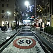 Milano gennaio 2016: corso Garibaldi limite di 30 km all'ora in città