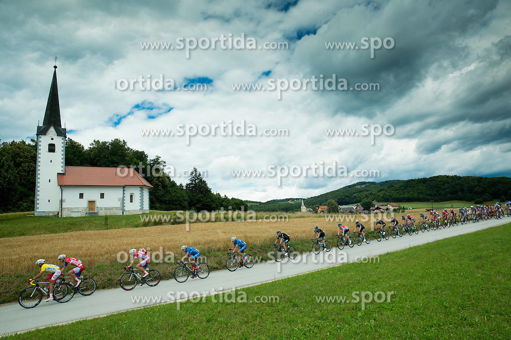 Peloton near Trebnje during Stage 4 of 22nd Tour of Slovenia 2015 from Rogaska Slatina to Novo mesto (165,5 km) cycling race  on June 21, 2015 in Slovenia. Photo by Vid Ponikvar / Sportida