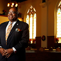 Rev. Franklin Breckenridge pictured at Olivet Church in South Bend.<br />