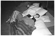 Sleeping during the Trinity Hall May Ball. Cambridge. 14 June 1983. film 83406f15