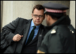 The Prime Minister David Cameron's ex spin doctor Andy Coulson arrives at the The Old Bailey, London, United Kingdom, for Phone Hacking Trial ,Monday, 18th November 2013. Picture by Andrew Parsons / i-Images