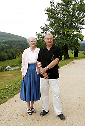 File photo - Queen Margrethe II of Denmark (L) poses with Prince Henrik of Denmark (R) during a photo call in their summer residence 'Chateau de Caix' near Cahors, France, on August 7, 2007. Prince Henrik, the French-born husband of Denmark's Queen Margrethe II, has died, the palace announced Wednesday. He was 83. Photo by Patrick Bernard/ABACAPRESS.COM