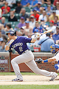 CHICAGO, IL - JUNE 27: Troy Tulowitzki #2 of the Colorado Rockies bats against the Chicago Cubs at Wrigley Field on June 27, 2011 in Chicago, Illinois. The Cubs won 7-3. (Photo by Joe Robbins) *** Local Caption *** Troy Tulowitzki