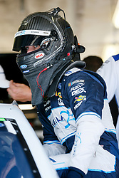 November 3, 2018 - Fort Worth, TX, U.S. - FORT WORTH, TX - NOVEMBER 03: Monster Energy NASCAR Cup Series driver Ryan Blaney (12) climbs into his car during practice for the AAA Texas 500 at the Texas Motor Speedway in Fort Worth, Texas. (Photo by Matthew Pearce/Icon Sportswire) (Credit Image: © Matthew Pearce/Icon SMI via ZUMA Press)