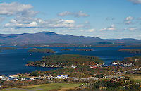 Flight over Lake Winnipesaukee with Lakes Biplane. © 2103 Karen Bobotas Photographer