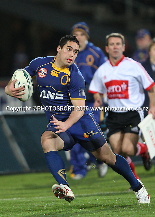 Karne Hesketh.<br /> Air NZ Cup, Otago v Hawkes Bay, Carisbrook, Dunedin, Friday 29 August 2008. Photo: Rob Jefferies/PHOTOSPORT