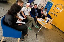 Peter Kauzer, Bojan Zmavc, Tomaz Mikulan and Andrej Jelenc at press conference of Kayak and Canoe Federation of Slovenia, on April 7, 2010, in Avtotehna VIS, Ljubljana, Slovenia.  (Photo by Vid Ponikvar / Sportida)