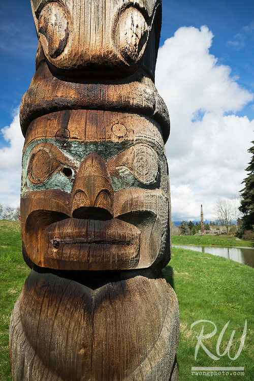 Outdoor Haida Totem Pole at UBC Museum of Anthropology, Vancouver, B.C., Canada