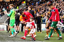 Bailey Wright of Bristol City leads his side out at Hull City - Mandatory by-line: Robbie Stephenson/JMP - 05/05/2019 - FOOTBALL - KCOM Stadium - Hull, England - Hull City v Bristol City - Sky Bet Championship