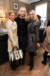 Left to right, HOFIT GOLAN, JADE PARFIT and NOELLE RENO at the Hennessy Gold Cup 2010 at Newbury Racecourse, Berkshire on 27th November 2010.