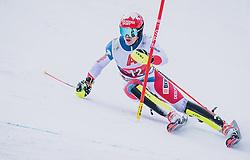 26.01.2020, Streif, Kitzbühel, AUT, FIS Weltcup Ski Alpin, Slalom, Herren, im Bild Loic Meillard (SUI) // Loic Meillard of Switzerland in action during his run in the men's Slalom of FIS Ski Alpine World Cup at the Streif in Kitzbühel, Austria on 2020/01/26. EXPA Pictures © 2020, PhotoCredit: EXPA/ JFK