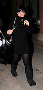 11.MAR.2009 - LONDON<br /> <br /> LILY ALLEN ARRIVIG AT ST PANCRAS STATION AFTER GETTING THE EUROSTAR BACK FROM PARIS AT 9:30PM WEARING A BLACK JUMPER. LILY GOT CHANGED ON THE WAY, IN THE VAN AND ARRIVED AT SCOTTS RESTAURANT IN A DRESS BEFORE LEAVING AT 11:00PM AND GOING HOME.<br /> <br /> BYLINE MUST READ :EDBIMAGEARCHIVE.COM<br /> <br /> *THIS IMAGE IS STRICTLY FOR UK NEWSPAPERS & MAGAZINES ONLY*<br /> *FOR WORLDWIDE SALES & WEB USE PLEASE CONTACT EDBIMAGEARCHIVE-0208 954 5968*