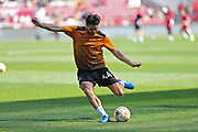 Wolverhampton Ben Marshall (64) warming up before the EFL Sky Bet Championship match between Bristol City and Wolverhampton Wanderers at Ashton Gate, Bristol, England on 8 April 2017. Photo by Gary Learmonth.