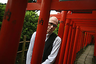 British author David Peace, photographed in Nezu district of Tokyo, Japan, July 23rd 2007.  David Peace is author of 'The Red Riding Quartet', 'GB84', 'The Damned Utd' and was named one of Granta's Best Young british Novelists for 2003. His latest book is 'Tokyo Year Zero', part one of a Tokyo trilogy.