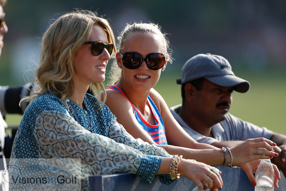Rory McIlroy girlfriend Caroline Wozniacki<br /> during the second round of the Race To Dubai DP World Tour Golf Championship, Dubai, UAE November  2013<br /> Picture Credit:  Mark Newcombe / www.visionsingolf.com
