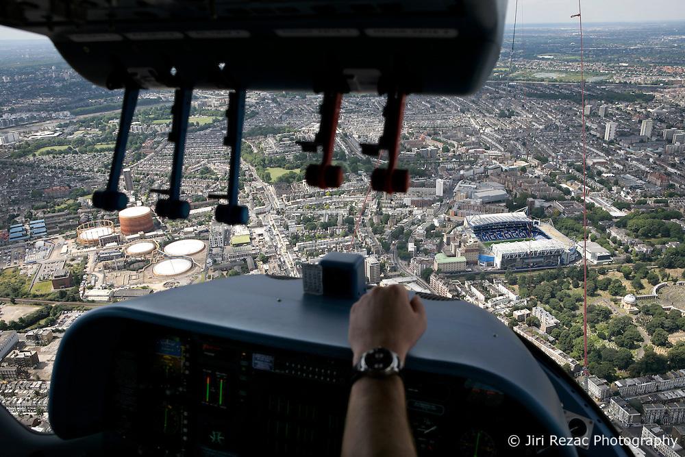 UK ENGLAND LONDON 22JUL08 - Aerial view onto Stamford Bridge Chelsea FC stadium from the cockpit of the 'Star over London' zeppelin flight route over central London. ..jre/Photo by Jiri Rezac..© Jiri Rezac 2008..Contact: +44 (0) 7050 110 417.Mobile:  +44 (0) 7801 337 683.Office:  +44 (0) 20 8968 9635..Email:   jiri@jirirezac.com.Web:    www.jirirezac.com..© All images Jiri Rezac 2008 - All rights reserved.