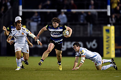 Nick Auterac of Bath Rugby goes on the attack - Mandatory byline: Patrick Khachfe/JMP - 07966 386802 - 10/10/2015 - RUGBY UNION - The Recreation Ground - Bath, England - Bath Rugby v Exeter Chiefs - West Country Challenge Cup.