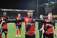 Fotball<br /> Frankrike<br /> Foto: Panoramic/Digitalsport<br /> NORWAY ONLY<br /> <br /> joie Claudio Beauvue - Jeremy Pied (Guingamp)