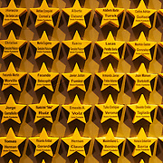 Fans who make a donation to the football club to aid reburbishment have their names placed on stars in the entrance to the museum at Boca Juniors football stadium, La Bombonera, in La Boca region of Buenos Aires, Argentina, 25th June 2010. Photo Tim Clayton..