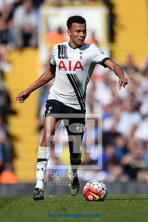 Dele Alli of Tottenham Hotspur during the Barclays Premier League match between Tottenham Hotspur and Crystal Palace at White Hart Lane, London<br /> Picture by Richard Blaxall/Focus Images Ltd +44 7853 364624<br /> 20/09/2015