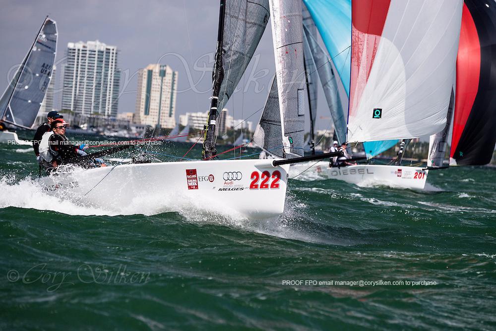 Wild Deuces sailing in Bacardi Miami Sailing Week, day five.