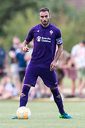 German Ajelo Pezzella of ACF Fiorentina during the Pre-season Friendly match between Heracles Almelo and Fiorentina at Sportpark Wiesel  on August 01, 2018 in Wenum-Wiesel , The Netherlands