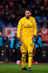 03.02.2019, Stadio Olimpico, Rom, ITA, Serie A, AS Roma vs AC Milan, 22. Runde, im Bild donnarumma // donnarumma during the Seria A 22th round match between AS Roma and AC Milan at the Stadio Olimpico in Rom, Italy on 2019/02/03. EXPA Pictures &copy; 2019, PhotoCredit: EXPA/ laPresse/ Alfredo Falcone<br /> <br /> *****ATTENTION - for AUT, SUI, CRO, SLO only*****