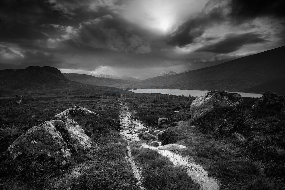 'Westerly'<br /> The Mamores from Loch Ossian.