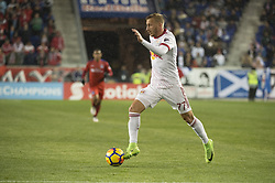 March 1, 2018 - Harrison, New Jersey, United States - New York Red Bulls midfielder DANIEL ROYER (77) dribbles the ball during the CONCACAF Champions league match at Red Bull Arena in Harrison, NJ.  NY Red Bulls defeat CD Olimpia 2-0  (Credit Image: © Mark Smith via ZUMA Wire)
