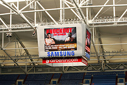 A general view of the fight poster in the arena for IBF, WBO and IBO heavyweight champion Wladimir Klitschko and David Haye's Heavyweight title fight which will take place in front of up to 60,000 spectators when he takes on David Haye at the Veltins-Arena in Schalke, homefield of German Bundesliga team Schalke 04 on June 20. April 17th 2009, Germany.