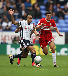 Darren Pratley of Bolton Wanderers (L) and Dael Fry of Middlesbrough in action - Mandatory by-line: Jack Phillips/JMP - 09/09/2017 - FOOTBALL - Macron Stadium - Bolton, England - Bolton Wanderers v Middlesbrough - English Football League Championship
