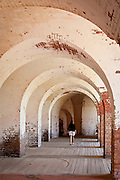 Ramparts inside Fort Pulaski National Monument Savannah, GA.