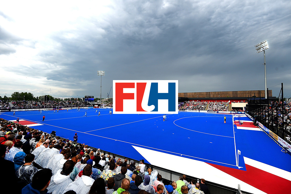 LONDON, ENGLAND - JUNE 11: A general view of action during day two of the FIH Men's Hero Hockey Champions Trophy 2016 match between India and Great Britain at Queen Elizabeth Olympic Park on June 11, 2016 in London, England. (Photo by Tom Dulat/Getty Images)
