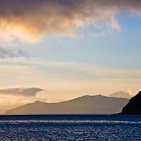 Marlborough Sounds landscape, sunset