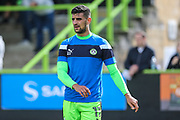 Forest Green Rovers Omar Bugiel(11) warming up during the EFL Sky Bet League 2 match between Forest Green Rovers and Exeter City at the New Lawn, Forest Green, United Kingdom on 9 September 2017. Photo by Shane Healey.