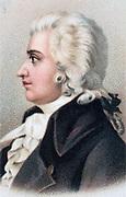 Wolfgang Amadeus Mozart (1756-1791), Austrian composer. Chromolithograph 1912.