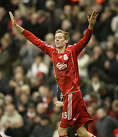 Photo: Aidan Ellis.<br /> Liverpool v Bolton Wanderers. The Barclays Premiership. 01/01/2007.<br /> Liverpool's Peter Crouch celebrates his goal