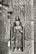 Stone Carvings on Banteay Srei in Siem Reap of Cambodia