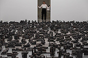 Sleeping Field 2016 - Antony Gormley, Fit, a new exhibition of work in the South Galleries of White Cube Bermondsey. The piece is divided into 15 discrete chambers to create a series of dramatic physiological encounters in the form of a labyrinth.