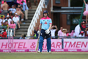 Eoin Morgan (Capt) caught out  during the One Day International match between South Africa and England at Bidvest Wanderers Stadium, Johannesburg, South Africa on 9 February 2020.