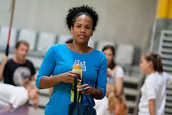Amelie Goudjo during practice session of RK Krim Mercator on August 6, 2014 in SRC Stozice, Ljubljana, Slovenia. Photo by Urban Urbanc / Sportida