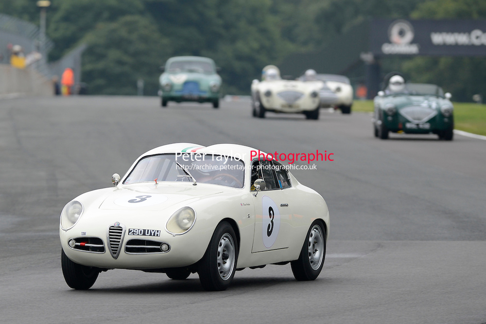 #3 Brian Arculus Alfa Romeo Giulietta SVZ during FISCAR Inter Marque Challenge - Race as part of the Oulton Park Gold Cup at Oulton Park, Little Budworth, Cheshire, United Kingdom. August 31 2015. World Copyright Taylor/PSP. Copy of publication required for printed pictures.  Every used picture is fee-liable. http://archive.petertaylor-photographic.co.uk