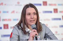 20.02.2018, Austria House, Pyeongchang, KOR, PyeongChang 2018, Pressekonferenz, im Bild Katrin Ofner // during a pressconference of the Pyeongchang 2018 Winter Olympic Games at the Austria House in Pyeongchang, South Korea on 2018/02/20. EXPA Pictures © 2018, PhotoCredit: EXPA/ Erich Spiess