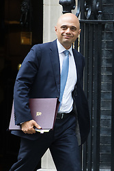 Downing Street, London, June 14th 2016. Business Secretary Sajid Javid leaves  10 Downing Street after attending the weekly cabinet meeting.